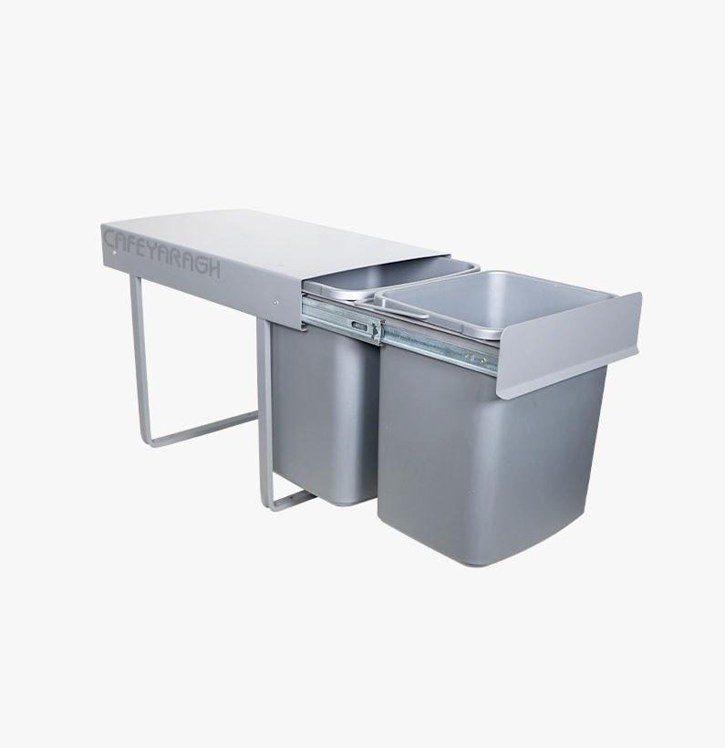 تصویر سطل زباله 36 لیتری کابینتی پارس مدل 2031
