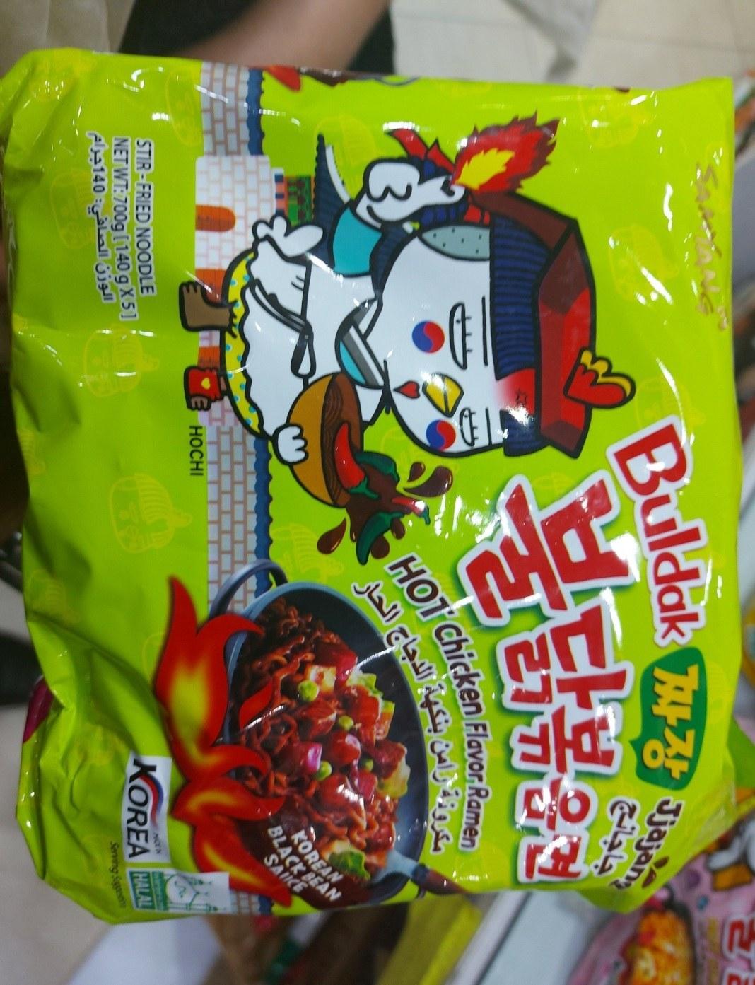 تصویر نودل کره ای (رامن ) جاجانگمیون طعم مرغ تند 140 گرم سامیانگ – samyang ا samyang samyang