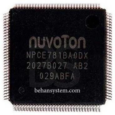 تصویر آی سی لپ تاپ مدل NUVOTON NPCE781BAODX
