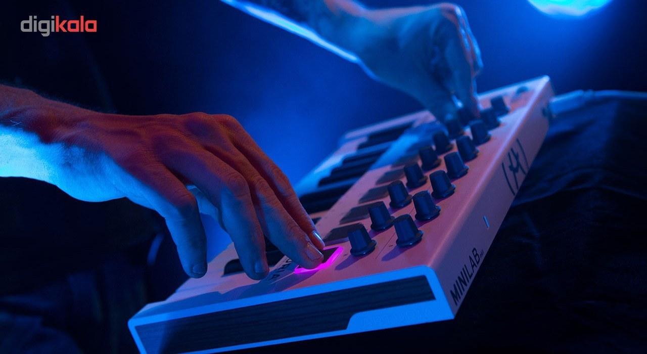 تصویر کیبورد میدی کنترلر آرتوریا مدل MiniLab Mk II ا Arturia MiniLab Mk II Midi Controller Keyboard Arturia MiniLab Mk II Midi Controller Keyboard