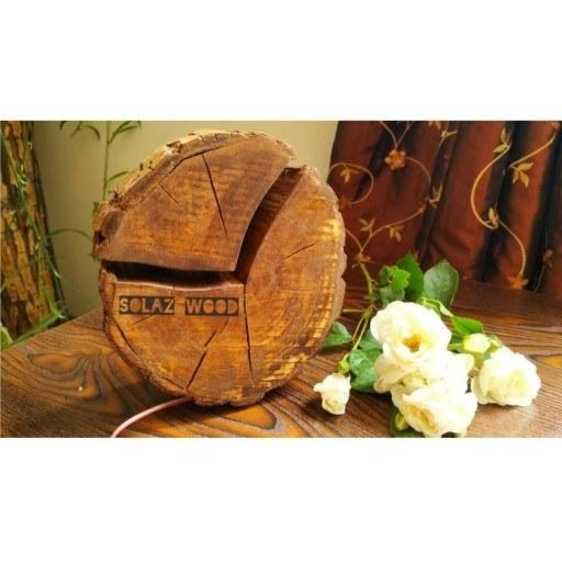 آباژور رومیزی دستساز چوبی |