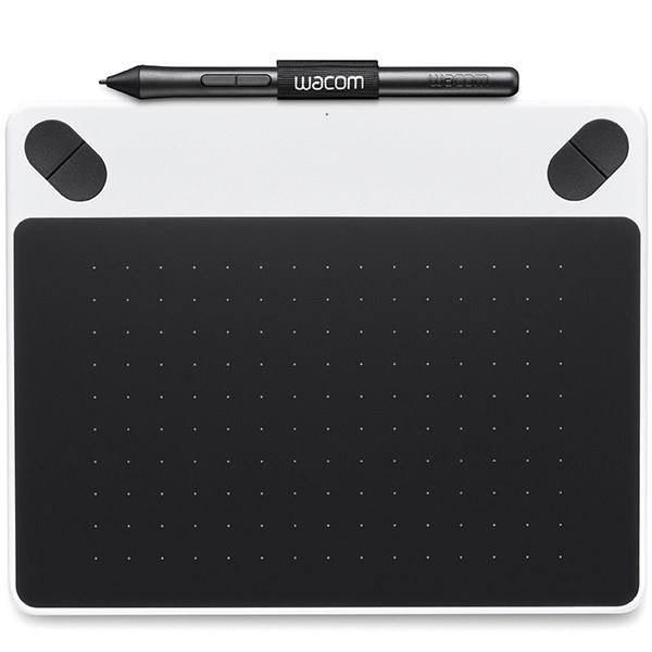 تصویر تبلت گرافیکی همراه با قلم دیجیتال وکام سری Intuos Draw مدل CTL-490D