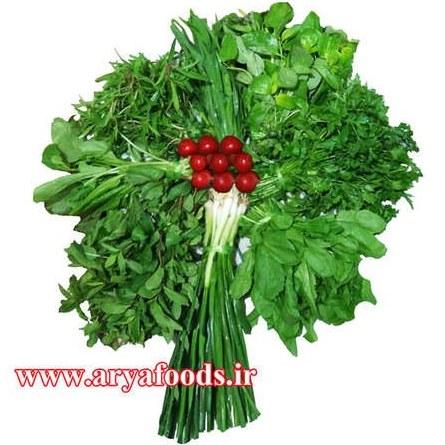 تصویر سبزی خوردن تازه بسته یک کیلوگرم