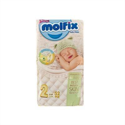 تصویر پوشک مولفیکس سایز ۲ بسته ۵۲ عددی قیمت پوشک مولفیکس سایز ۲ بسته ۵۲ عددی  به شرط خرید تیمی