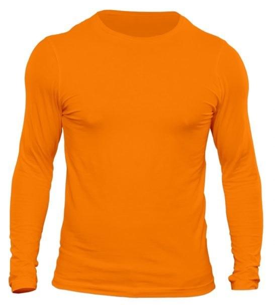 تیشرت آستین بلند مردانه رنگ نارنجی