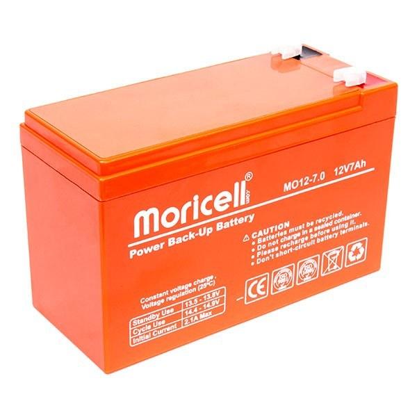 تصویر باتری مخصوص دزدگیر و سانترال Moricell مدل 12 ولت 7 آمپر ساعت