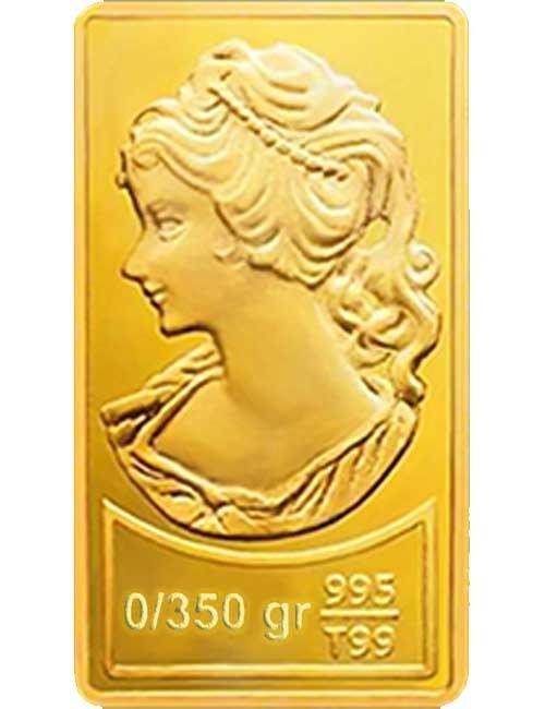 تصویر شمش طلا ۳۵۰ سوتی (۰.۳۵۰گرم ) نقش برجسته ونوس