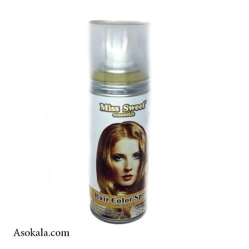 اسپری رنگ مو بلوند موقت miss sweet حجم 138 میل | Miss Sweet Hair Color Spray