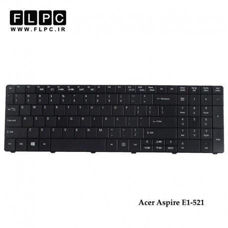 تصویر کیبورد لپ تاپ ایسر Acer Aspire E1-521 Laptop Keyboard مشکی - با دکمه پهن