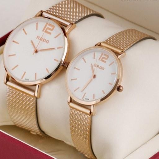 ساعت ست طلایی مردانه و زنانه طرح رادو