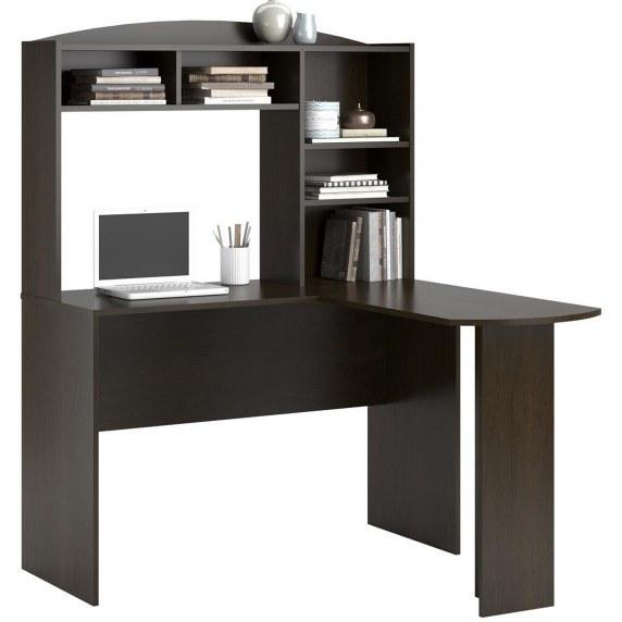 میز تحریر کتابخانه دار ال شکل مدل آنتیک