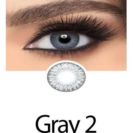 تصویر لنز رنگی چشم یخی خاکستری لاکی لوک مدل Ice Gray 3