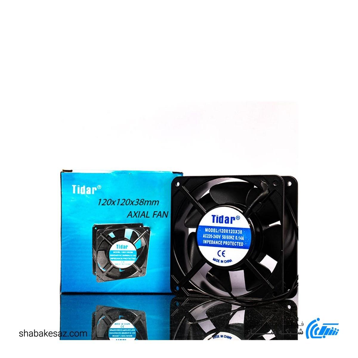 تصویر فن رک ۲۲۰ ولت سایز ۱۲×۱۲ مدل پنج پره fan 220
