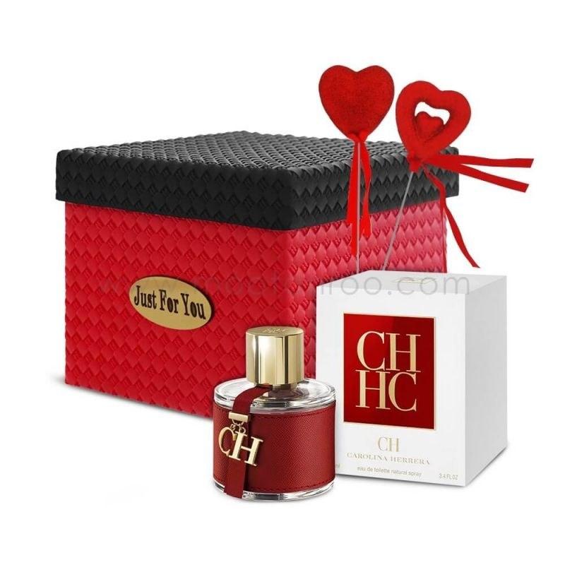 پک هدیه عطر زنانه-W24(ادو تویلت زنانه کارولینا هررا مدل CH حجم 100 میل)
