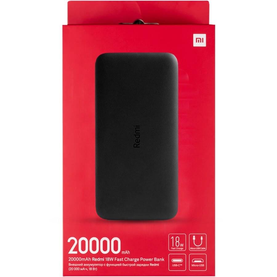تصویر پاوربانک شیائومی ظرفیت 20000 میلی آمپر ساعت ا Xiaomi Redmi 20000mAh Power Bank Xiaomi Redmi 20000mAh Power Bank
