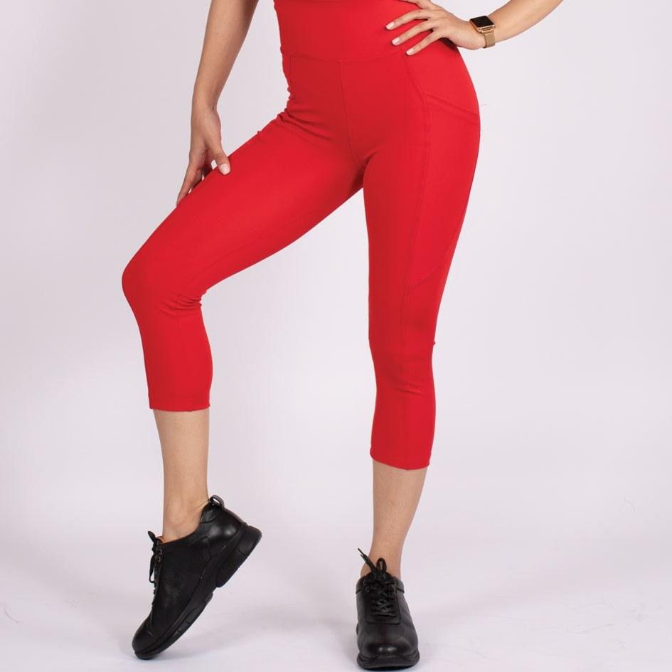 لگ اسلیم افکت جیبدار قرمز قد ۷۵ – Agi Slim Effect Leggings Kırmızı
