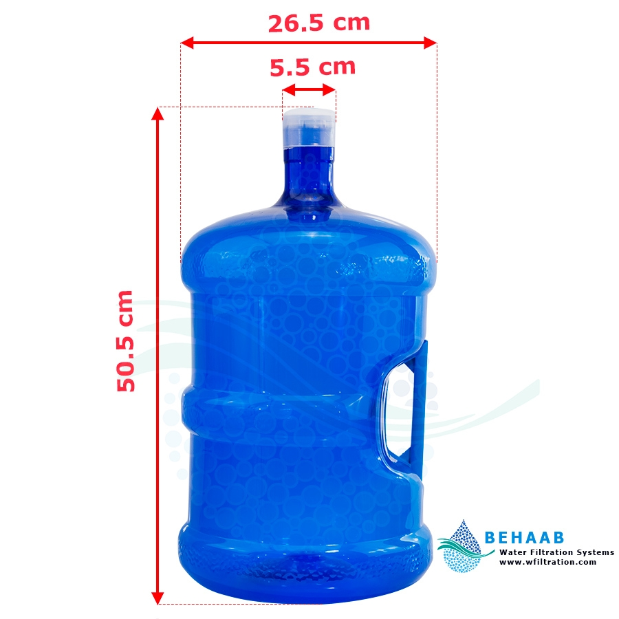 تصویر مخزن آبسردکن 20 لیتری دسته دار با درپوش 20 Liter Water Dispenser Bottle With Handle and CAP