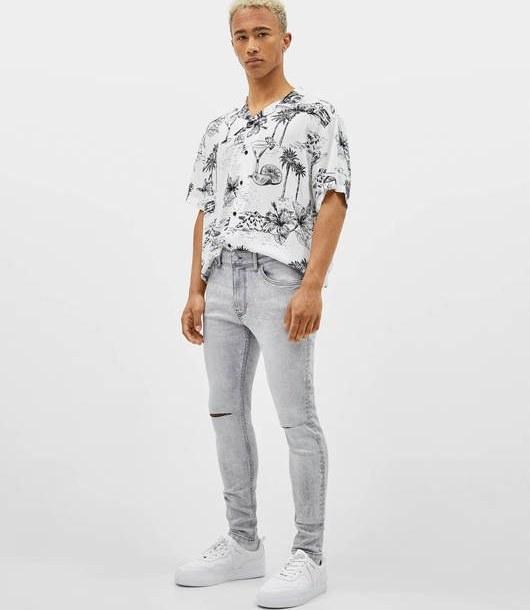 شلوار جین برشکا با کد 5297/534/811 ( Super skinny fit jeans ) | شلوار جین مردانه برشکا