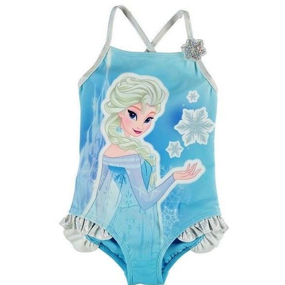 مایو شنا دخترانه کاراکتر مدل Disney Frozen