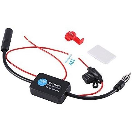 تقویت کننده سیگنال تقویت کننده آنتن ، Keenso Universal 12V اتومبیل FM AM رادیو تقویت کننده سیگنال آنتن هوایی تقویت کننده تقویت کننده بالا نویز کم HD 25dB