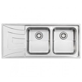 تصویر سینک استیل البرز مدل R-736 توکار Steel Alborz 736-R Inset Sink