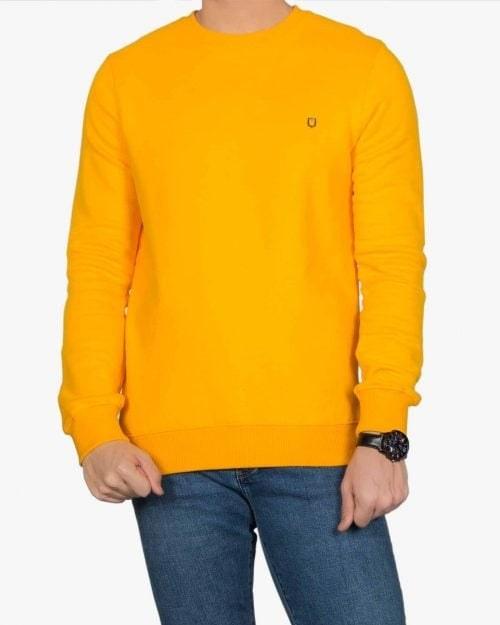 بلوز پنبه ای آستین بلند زرد مردانه