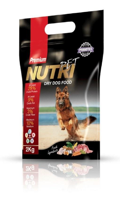 غذای خشک سگ با ٪۲۹ پروتئین (پریمیوم)، برند نوتری پت، ۲ کیلوگرمی