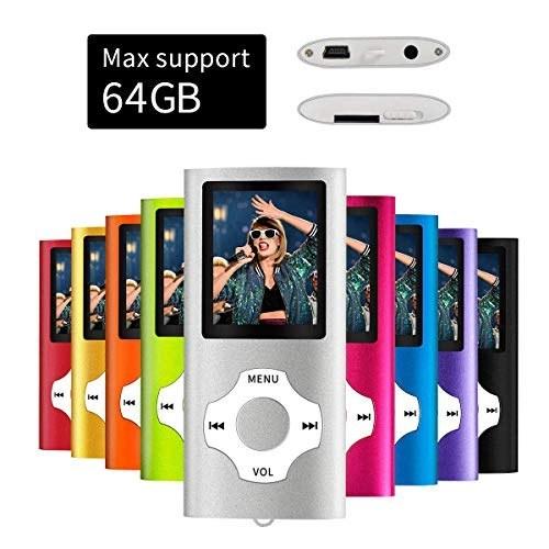 پخش کننده قابل حمل Mymahdi MP3 / MP4 ، صفحه نمایش LCD 1.8 اینچی ، حداکثر پشتیبانی 64 گیگابایت ، نقره ای