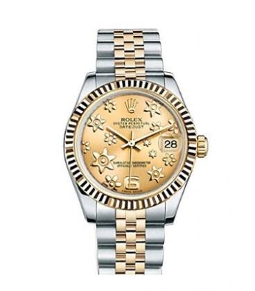 تصویر ساعت مچی زنانه رولکس Rolex Datejust Yellow Gold Ladies Watch 178273