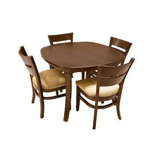 تصویر میز ناهارخوری و صندلی دایره چوبی اسپرسان چوب مدل SM02