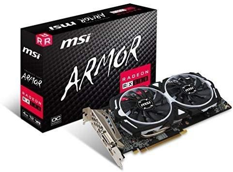 image کارت گرافیک MSI Gaming Radeon RX 580 256-bit 4GB GDRR5 DirectX 12 VR Ready CFX (RX 580 ARMOR 4G OC) محصول MSI MSI Gaming Radeon RX 580 256-bit 4GB GDRR5 DirectX 12 VR Ready CFX Graphcis Card (RX 580 ARMOR 4G OC)