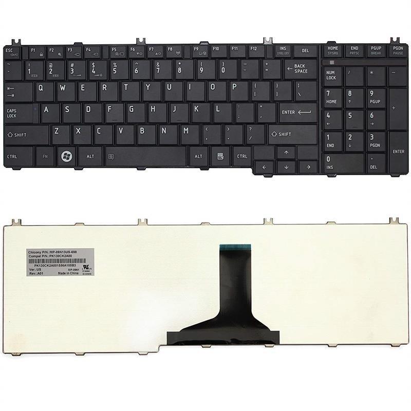 تصویر کیبورد لپ تاپ توشیبا C650 Toshiba C650 laptop keyboard