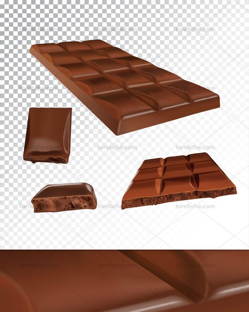 وکتور شکلات کاکائویی تخته ای