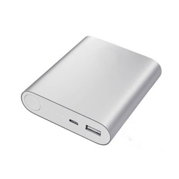 تصویر کیس پاوربانک 4 باتری دارای خروجی 5V 2A USB (نقره ای)