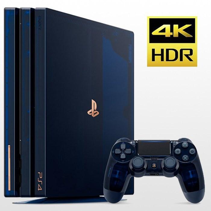 پلی استیشن ۴ پرو تک دسته ۲ ترابایت PS4 Pro 2TB-R2-CUH 7016B 500 Millions Limited Edition |