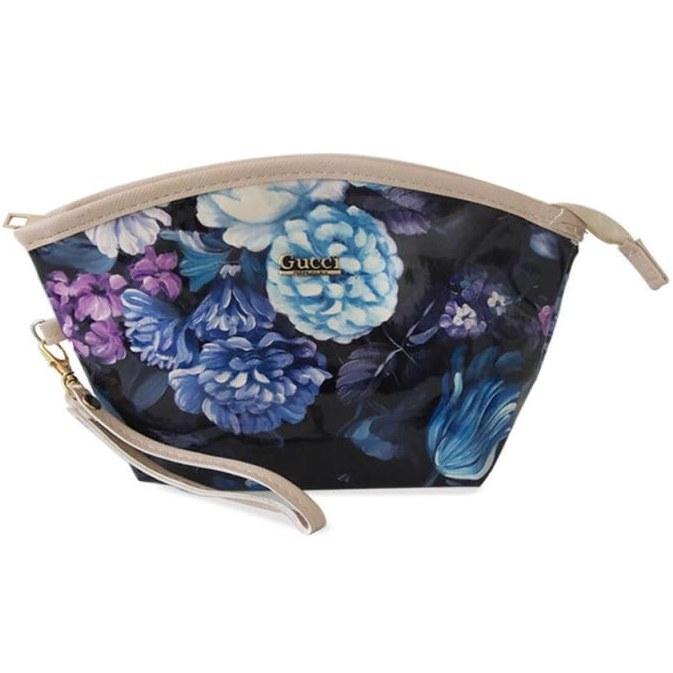 کیف آرایشی Gucci مدل Flower-آبی