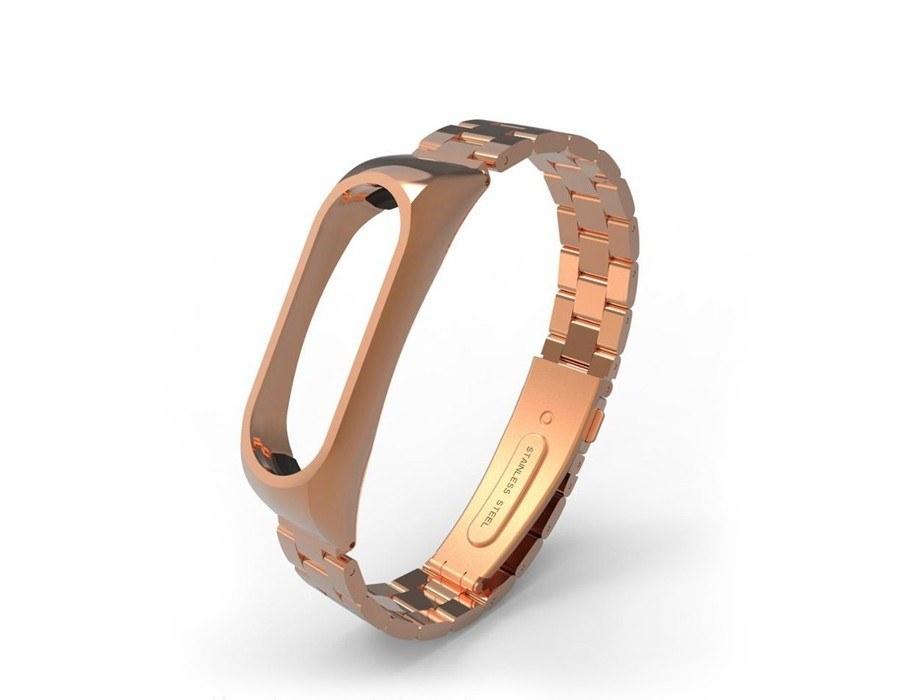 تصویر بند فلزی Rolex مناسب مچ بند هوشمند شیائومی مدل Mi band 2