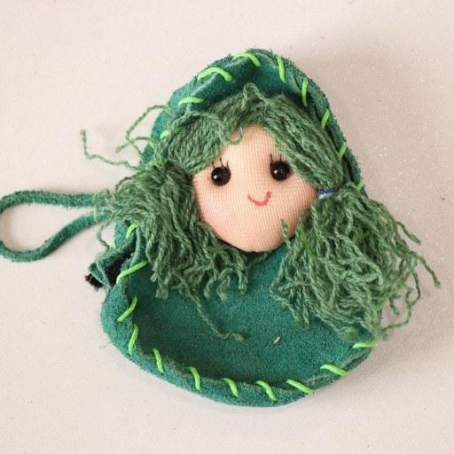 کیف فلش و هنزفری سبز گلابتون |
