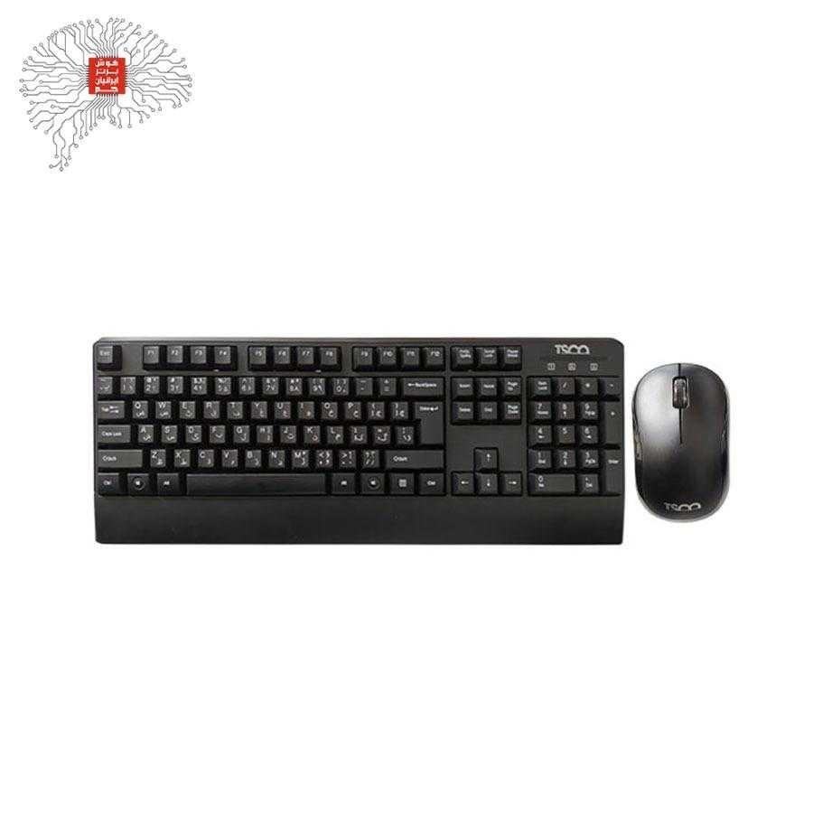 تصویر کیبورد و موس بی سیم TSCO TKM-7022W Tsco TKM-7022W Wireless Keyborde & Mouse