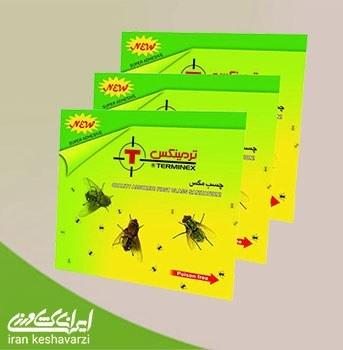 تصویر چسب مگس کُش کارتی با بوی جذب کننده ی حشرات مدل ترمینکس