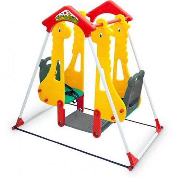 تصویر تاب حیاطی دو نفره کودک سپیده تویز مدل Twin 104 Sepideh Toys Twin 104 Baby Double Outdoor Swing
