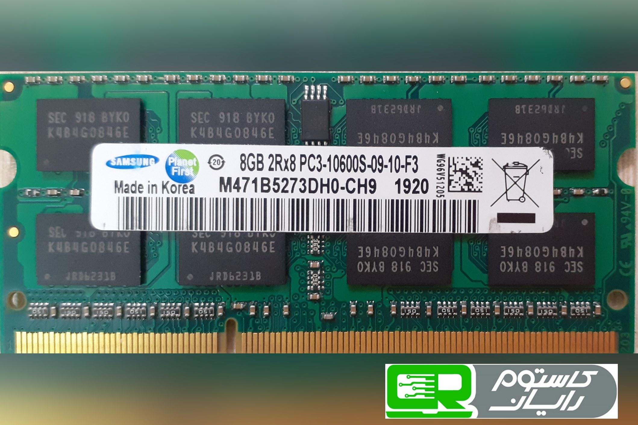 تصویر RAM Laptop SAMSUNG 8GB DDR3-1333 RAM Laptop SAMSUNG 8GB DDR3-1333