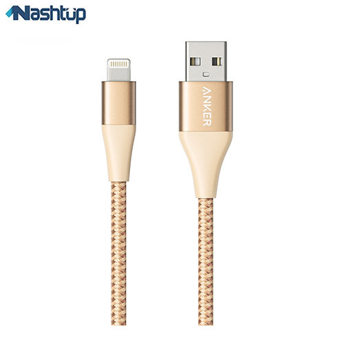 تصویر کابل تبدیل USB به لایتنینگ انکر مدل POWERLINE ii A8453 طول 1.8 متر anker powerline ii a8453 USB to lightning cable 1.8M