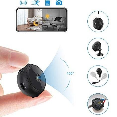 main images دوربین مخفی بی سیم PP.ZSLL کوتاه ، دوربین مخفی 1080P قابل حمل مینی جاسوسی ، دوربین WiFi کوچک برای خانه و محل کار ، دوربین نظارت امنیتی با تشخیص حرکت و دید مادون قرمز شب