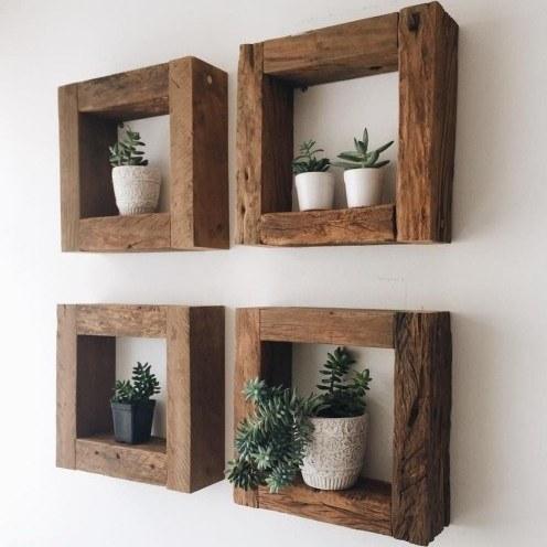 فروش شلف دیواری چوبی |