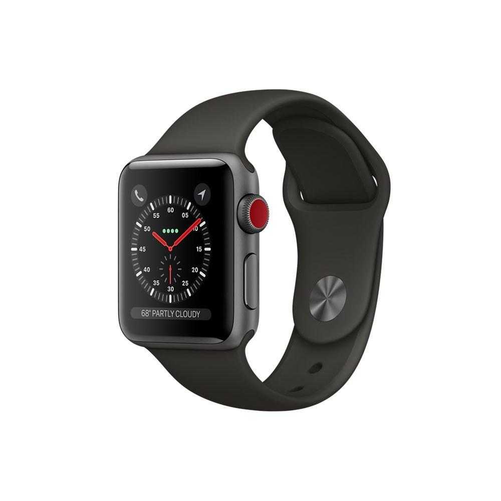 ساعت مچی هوشمند اپل واچ ۳ ۴۲ میلیمتر با بند اسپرت خاکستری | Apple Watch 3 GPS 42mm Space Gray Aluminum Case With Gray Sport Band