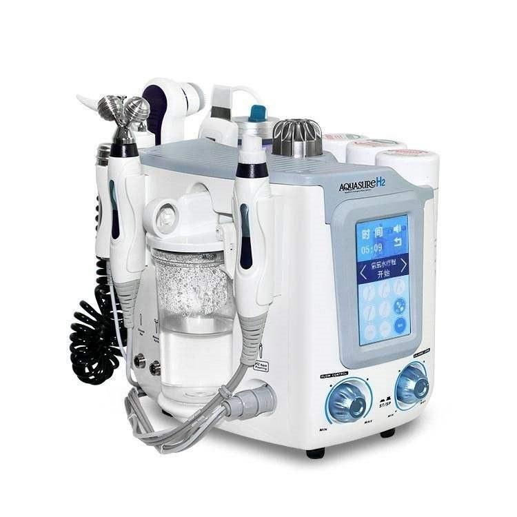 تصویر دستگاه هیدروژن و پاکسازی آکواشور جهت زیبای صورت H2 AQUASURE 6in1
