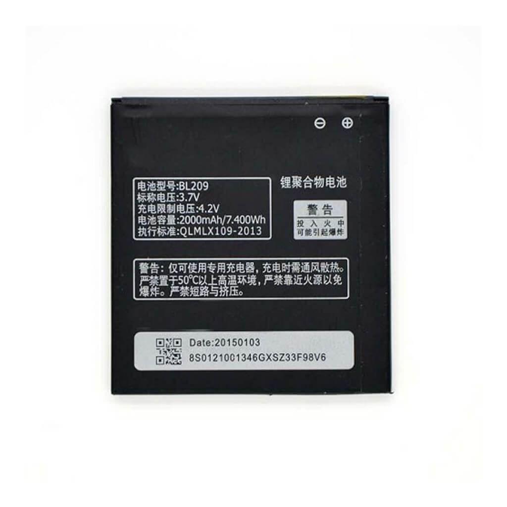 تصویر باتری لنوو Lenovo A706 مدل BL209 battery Lenovo A706 model BL209