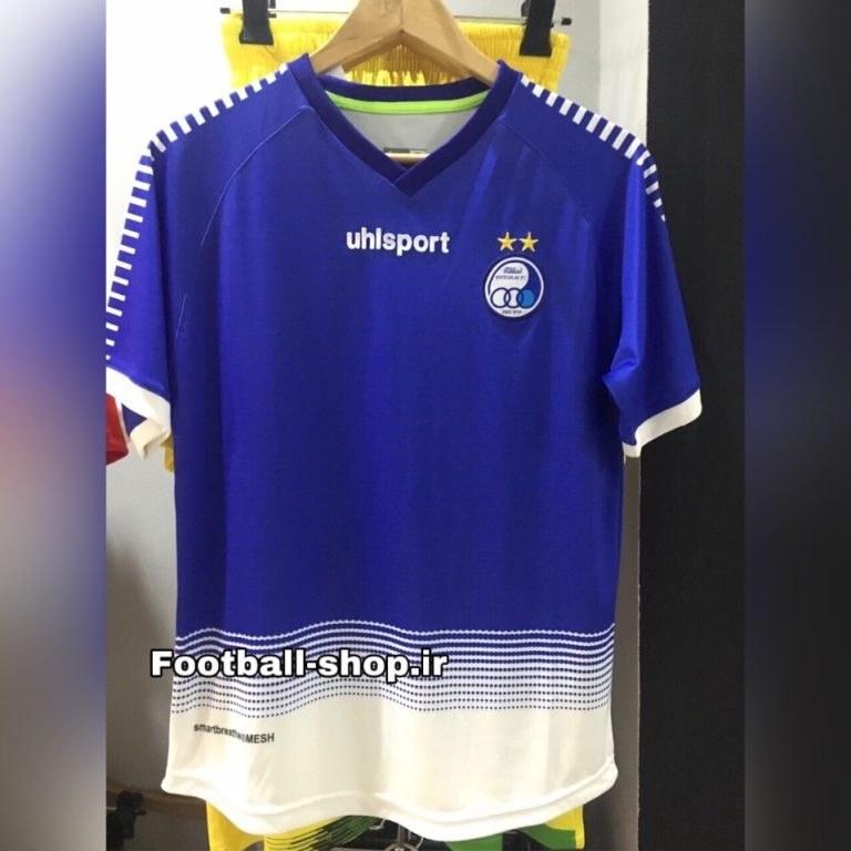 تصویر پیراهن اول (نیم فصل اول)اورجینال درجه یک 1398-1399 استقلال-بی نام-Uhlsport
