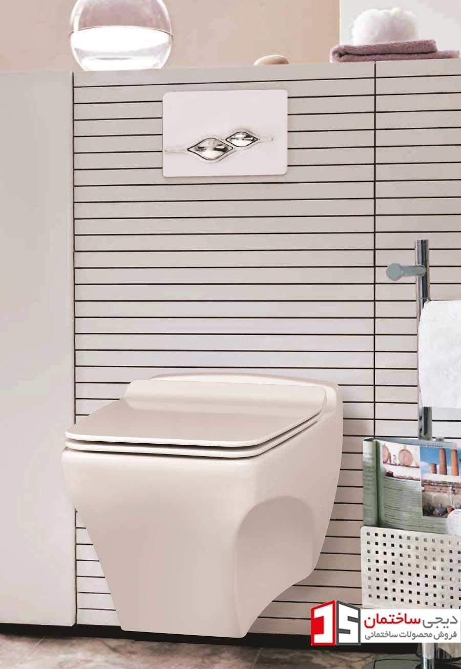تصویر توالت فرنگی دیواری کاتیا مروارید Katia Wall Hung Toilet